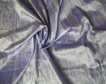 One yard of light lavender 100 percent pure  dupioni silk
