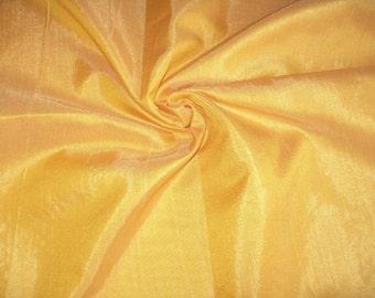 One yard of yellow dupioni  silk blend/poly dupioni
