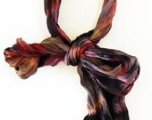 Hand Dyed Silk Bow Scarf - 005