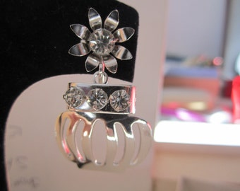 Bracelet & Earring Set Bright Silver Rhodium