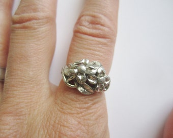 Silver Flowers Ring by Avon