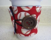 Baseball Coffee Cozy