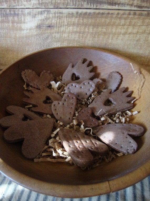 Items similar to Cinnamon Salt Dough Heart In Hand Bowl ...