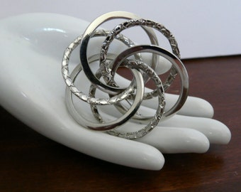 Silvertone Multi Circle Pin