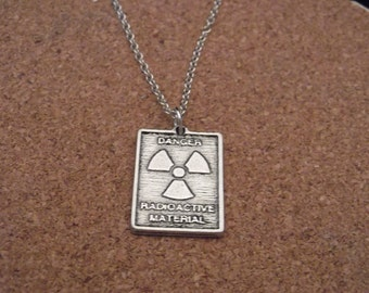 Gorgeous Geekery Radioactive Symbol Necklace - Biology, Chemistry, Science, Laboratory, Sci Fi, Physics