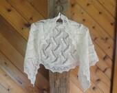 Winter Cream Lace Shawl