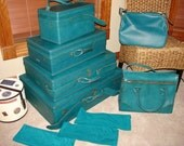 Hartmann Hula Blue 6 Piece Luggage Set