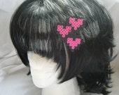 8bit anime romance love emoticon perler barrette Japanese expression otaku fun