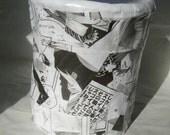 Paper mache vase anime manga decorated pencil holder desk ornament