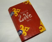 Wedding Engagement love ring box book of spells pagan wiccan hand painted OOAK
