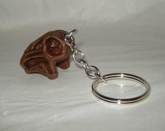 Dinosaur skull keychain Nigersaurus toy kitch upcycle science