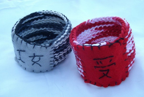SALE Naughty Japanese dom and sub coffee cup cozy pair BDSM NSFW