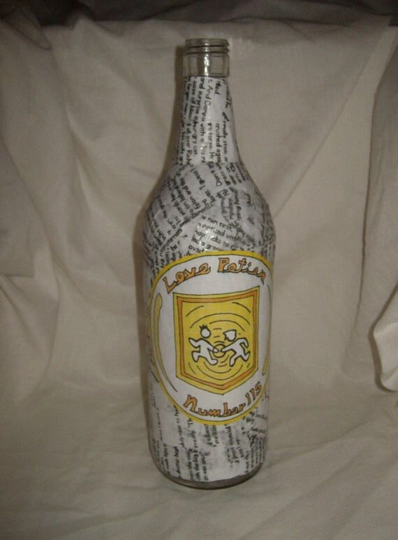 Zombie love vase upcycled bottle Love Potion Number 115 semi mature item slash perk