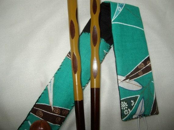 Japanese chopsticks case bento supplies utensils food on the go lunchbox eco green reusable