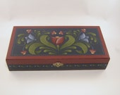 Country Charm Chipwood Box Hand Painted