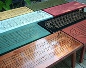 CUSTOM COLOR CRIBBAGE Table, Choose your color, Cribbage Board, Coffee Table, Cribbage, Cribbage Board Table, Game Table, Cribbage Table