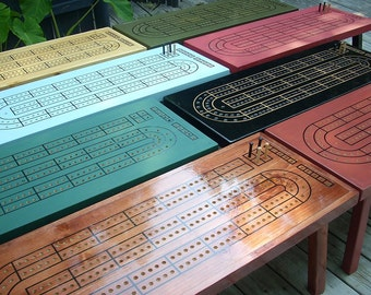 CUSTOM COLOR CRIBBAGE Table, Choose your color or stain, Cribbage Board, Cribbage, Cribbage Board Coffee Table, Game Table, Cribbage Table