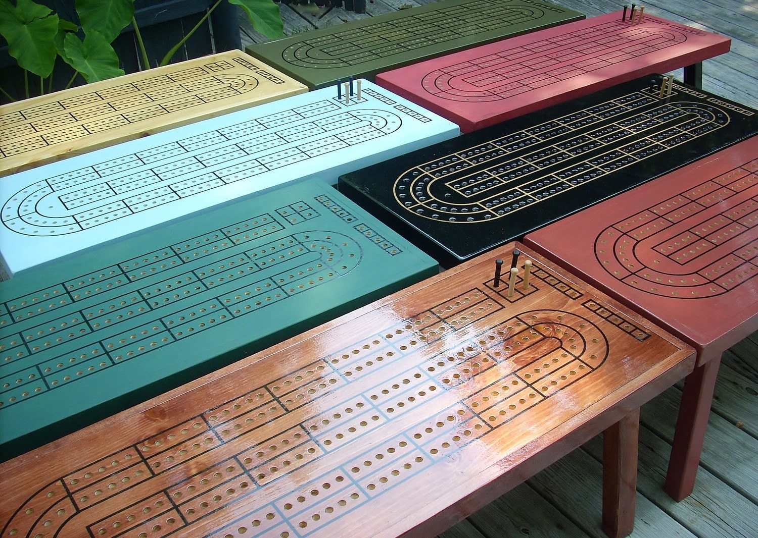 Crib boards for sale uk - Custom Color Cribbage Table Choose Your Color Or Stain Cribbage Board Cribbage Cribbage Board Coffee Table Game Table Cribbage Table
