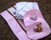 Doll diapers, burp rags and bib SEWING PATTERN pdf instand download
