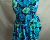 Blue flower swimsuit by Maxine of Hollywood