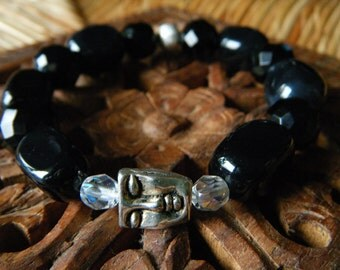 Harmony & Contentment- inspirational crystal gemstone bracelet- boho yoga zen buddha