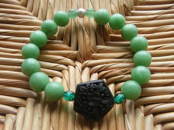 Balance & Clarity- inspirational crystal gemstone bracelet-boho yoga zen