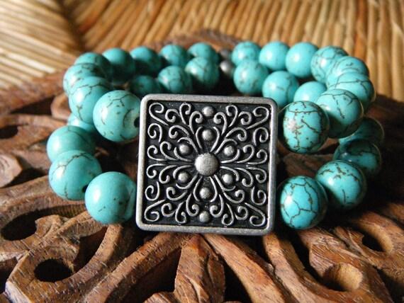 Dream & Bliss- inspirational crystal gemstone double wrap bracelet-boho yoga zen