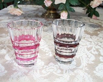Rose Depression Glass Shot Glasses