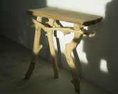Rio Grande beaver-chewed driftwood side table