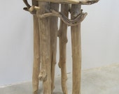 "Beaver-Chewed Driftwood Side Table ""Tough"""