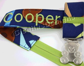 Personalized Pacifier Clip, handmade Baby pacifier clip, Baby shower gifts