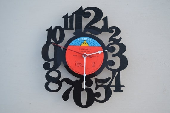 Vinyl Record Album Wall Clock (artist is Carlos Montoya)