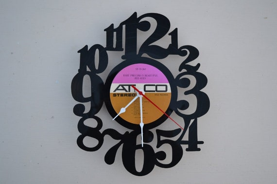 vinyl record clock (artist is The Bee Gees)