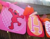 Sesame Street ELMO Girly (Pink, Orange, Red) Happy (Age) Birthday Banner