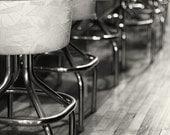 Bar Prints, Nightlife Photography Prints, Vintage Sepia Wall Decor, A Seat at the Bar