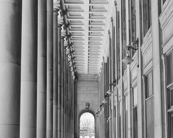 Chicago Photography, Architecture Photography, Union Station Art, Black and White Wall Art, Chicago Fine Art Prints, Going Forward 2