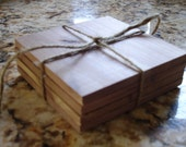 Wood cedar coaster set - RAW