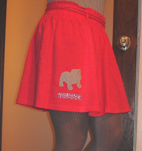 BULLDOG embroidered cotton skirt