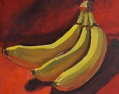 "Bananas, 8""x10"" original oil on canvas panel"