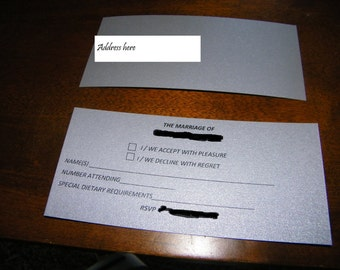 RSVP card - MARIE Style