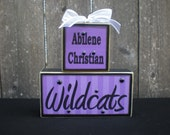 Wooden Blocks - ABILENE CHRISTIAN - Wildcats - paper may vary to stock