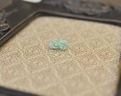 Mint Green Rose Earrings.