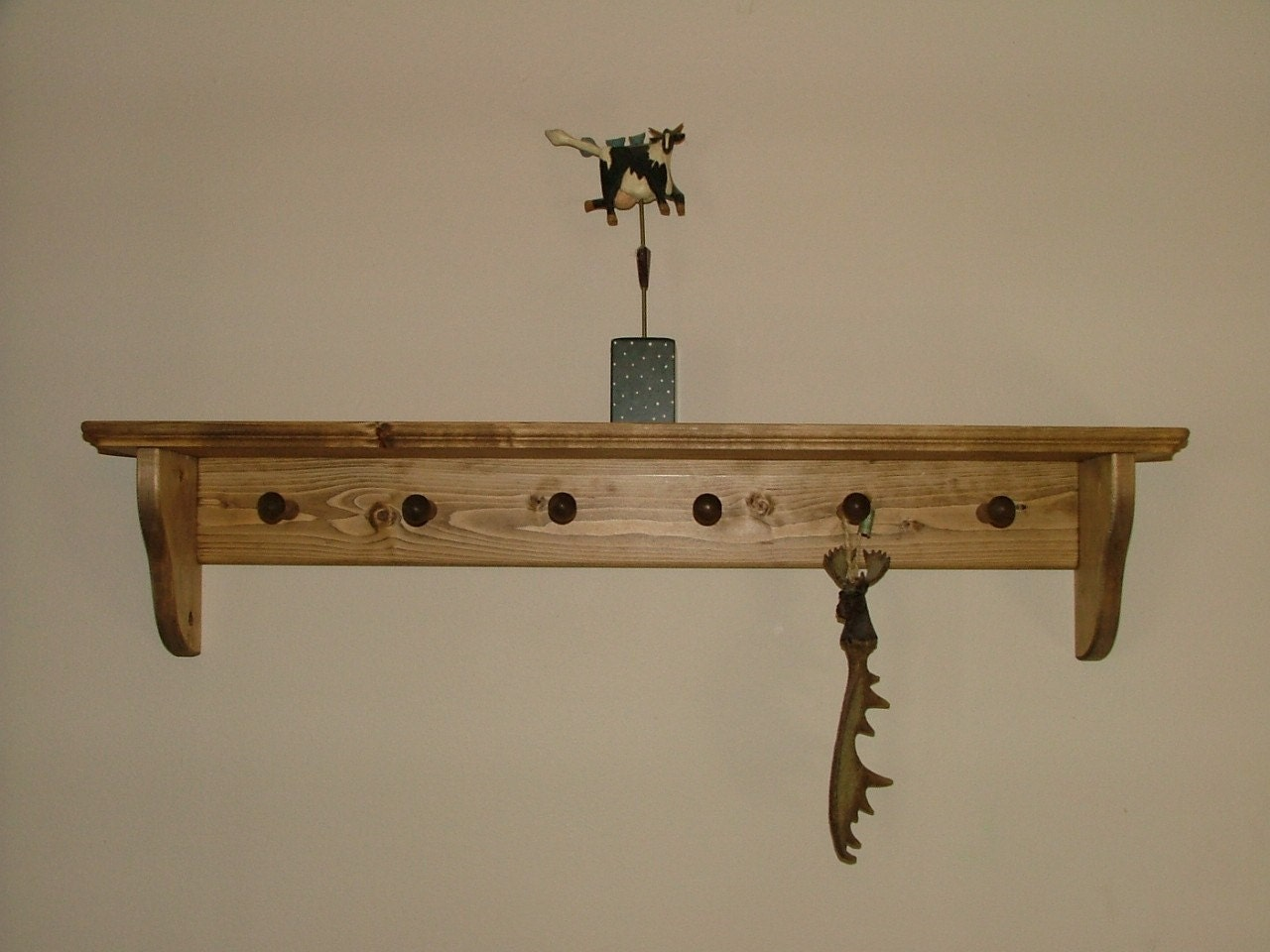 Coat Rack Wall Shelf Shaker Peg Coat Rack By