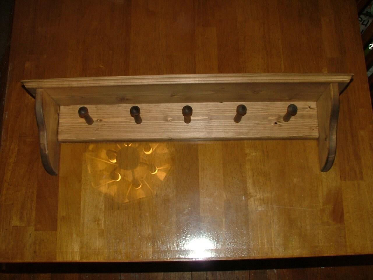 Coat Pegs With Shelf Coat Rack Wall Shelf Shaker Peg Shelf Coat Hanger Country