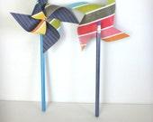 Pinwheel Party Favors 8 Paper Pinwheel Pencil Favors
