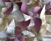 "Pinwheels 8 ""Violet Elegance"" Medium Paper Pinwheels"