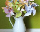 """Pinwheels """"Spring Has Sprung"""" 12 Medium Pinwheels"""