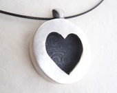 Heart pendant made from fine silver