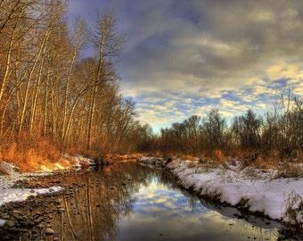 Boise River, Winter Sunset