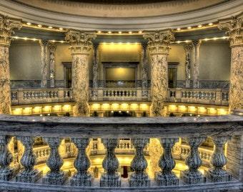 Idaho Capitol Rotunda, Boise, Idaho - Photo printed full-frame on 8x10